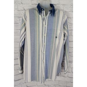 Vintage nautica Button Down Long-Sleeve Shirt, XL